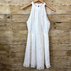 Ted Baker Lorene Halter Embroidered Dress Size 1